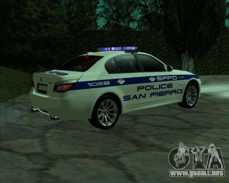 BMW M5 E60 Police SF para GTA San Andreas left