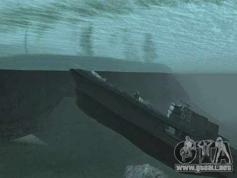 Los restos del naufragio v2.0 Final para GTA San Andreas segunda pantalla
