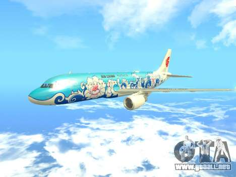 Airbus A320 Air China para visión interna GTA San Andreas