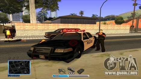 C-HUD by Andr1k para GTA San Andreas quinta pantalla