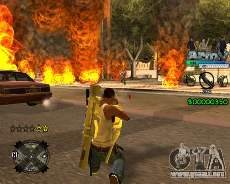 C-HUD For Army para GTA San Andreas tercera pantalla