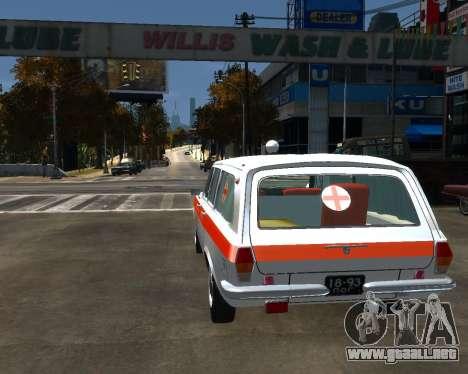 GAS 2402 Medsluzhba para GTA 4 Vista posterior izquierda