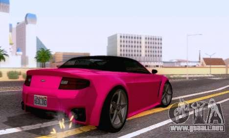 GTA V Rapid GT Cabrio para GTA San Andreas vista hacia atrás