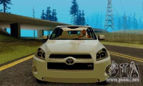 Toyota RAV4 para GTA San Andreas vista hacia atrás