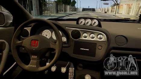 Honda Mugen Integra Type-R 2002 para GTA 4 vista interior