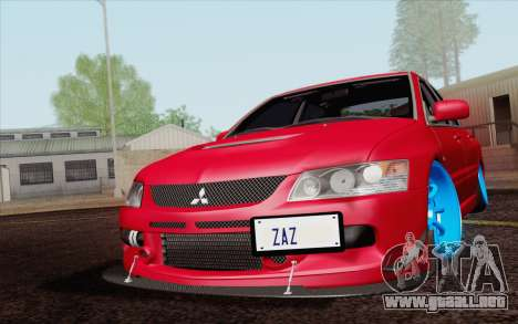 Mitsubishi Lancer MR Edition para visión interna GTA San Andreas