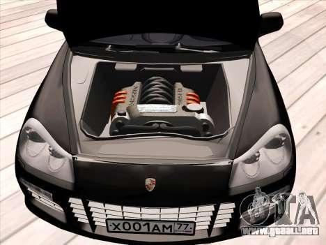 Porsche Cayenne Turbo S 2010 Stock para GTA San Andreas interior