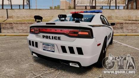 Dodge Charger 2011 LCPD [ELS] para GTA 4 Vista posterior izquierda