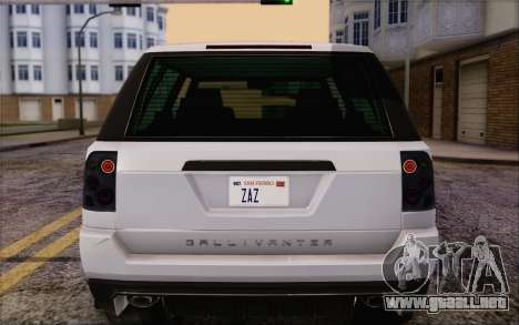 Atentos Gallivanter Baller из GTA V para vista lateral GTA San Andreas