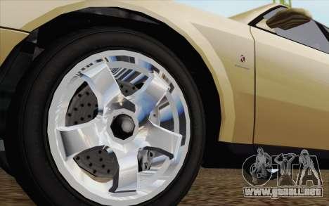 GTA IV Sultan para GTA San Andreas vista posterior izquierda