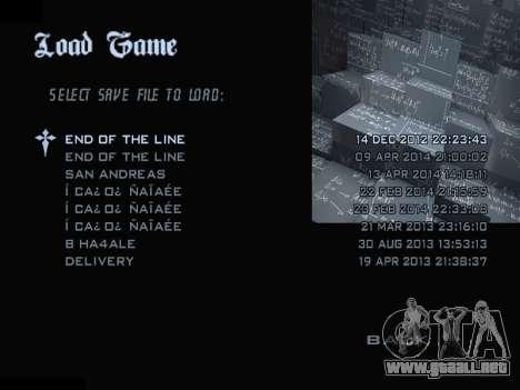 New Menu 2001 para GTA San Andreas séptima pantalla
