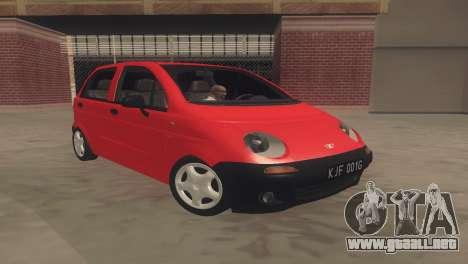 Daewoo Matiz I SE 1998 para GTA San Andreas left