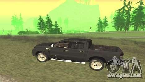 Ford Ranger Limited 2014 para la visión correcta GTA San Andreas