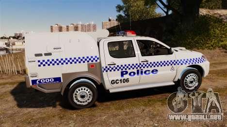 Toyota Hilux Police Western Australia para GTA 4 left