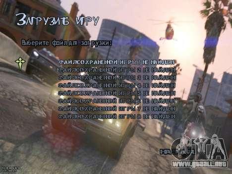 New Menu GTA 5 para GTA San Andreas tercera pantalla