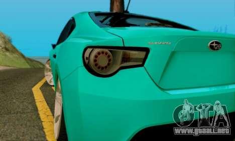 Subaru BRZ para vista lateral GTA San Andreas