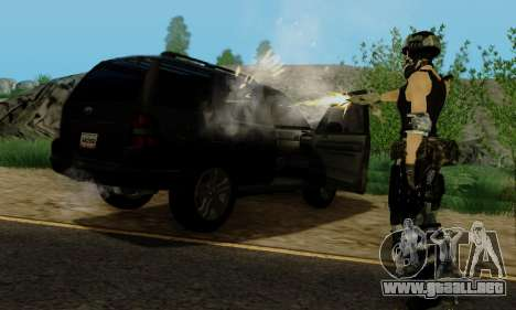 SWAT GIRL para GTA San Andreas séptima pantalla