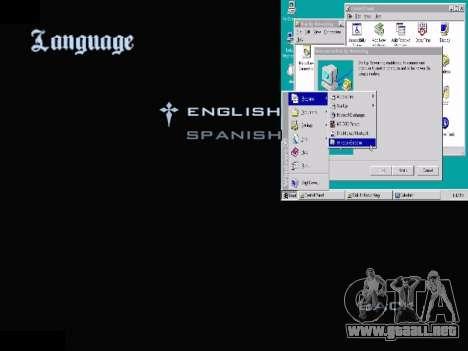 El Menú De Windows para GTA San Andreas séptima pantalla