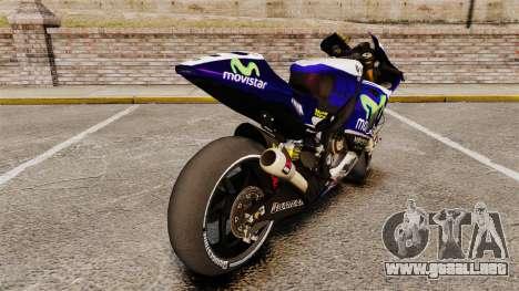 Yamaha YZR-M1 para GTA 4 visión correcta