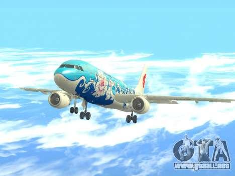 Airbus A320 Air China para GTA San Andreas vista hacia atrás