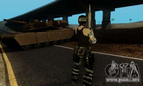 SWAT GIRL para GTA San Andreas sexta pantalla