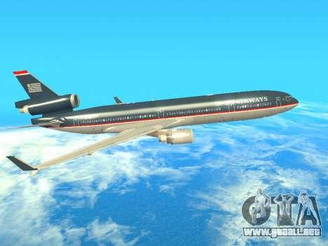 McDonnell Douglas MD-11 US Airways para GTA San Andreas vista posterior izquierda