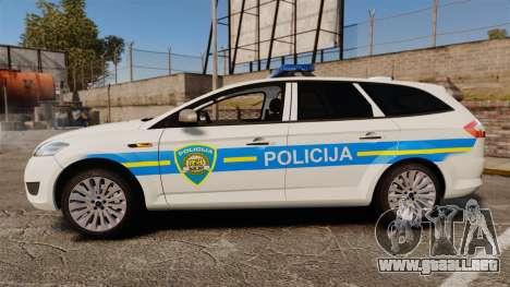 Ford Mondeo Croatian Police [ELS] para GTA 4 left