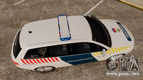 Audi S4 Avant Hungarian Police [ELS] para GTA 4 visión correcta