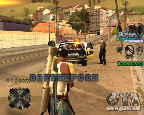 C-HUD For Army para GTA San Andreas segunda pantalla