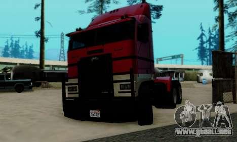 Hauler GTA V para GTA San Andreas vista posterior izquierda