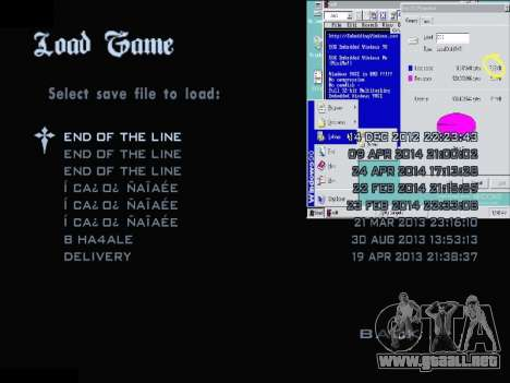 El Menú De Windows para GTA San Andreas tercera pantalla