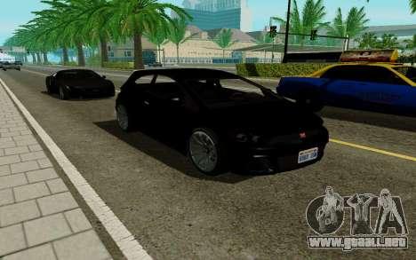 Dinka Blista GTA V para GTA San Andreas vista posterior izquierda
