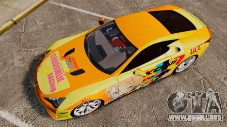 Lexus LF-A 2010 [EPM] Goodsmile Racing para GTA 4 visión correcta
