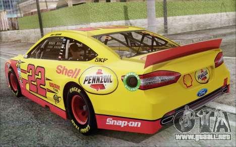 Ford Fusion NASCAR Sprint Cup 2013 para la visión correcta GTA San Andreas