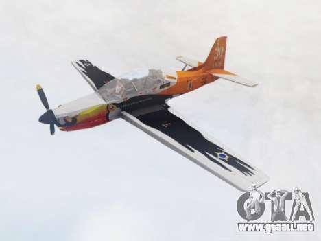 Embraer T-27 Tucano 30 Anos para GTA San Andreas vista posterior izquierda