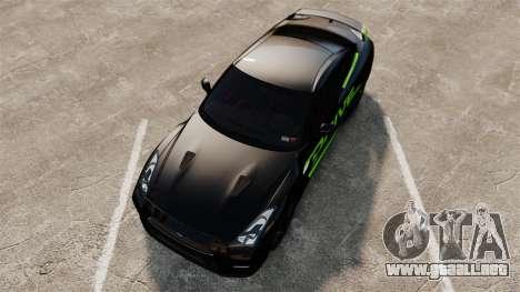 Nissan GT-R Black Edition 2012 Drive para GTA 4 visión correcta