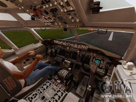 Boeing 737-800 Jet2 para visión interna GTA San Andreas