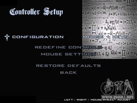 New Menu 2001 para GTA San Andreas sexta pantalla
