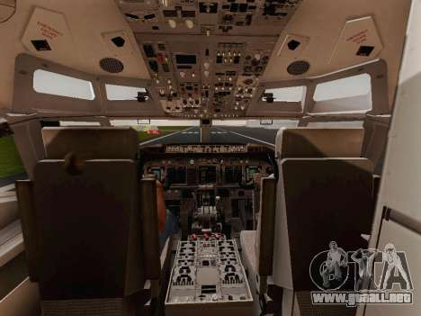 Boeing 737-800 Jet2 para GTA San Andreas vista hacia atrás