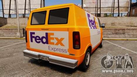 Brute Pony FedEx Express para GTA 4 Vista posterior izquierda