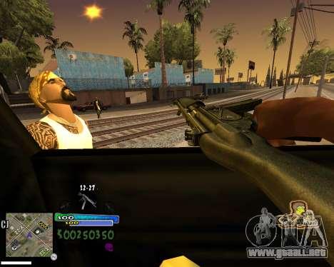 Vista de la primera persona para GTA San Andreas quinta pantalla