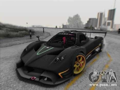 Pagani Zonda R 2009 para GTA San Andreas left