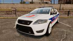 Ford Mondeo IV Wagon Police Nationale [ELS] para GTA 4