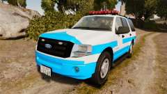 Ford Expedition Japanese Police SSV v2.5F [ELS] para GTA 4