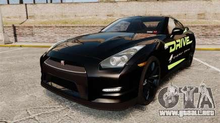 Nissan GT-R Black Edition 2012 Drive para GTA 4