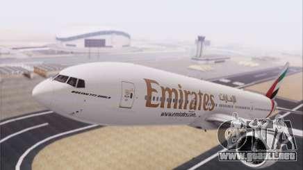 Emirates Airlines 777-200 para GTA San Andreas