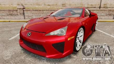 Lexus LF-A 2010 v2.0 [EPM] Final Version para GTA 4