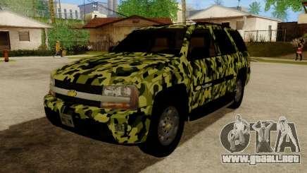 Chevrolet TrailBlazer Army para GTA San Andreas