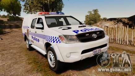 Toyota Hilux Police Western Australia para GTA 4