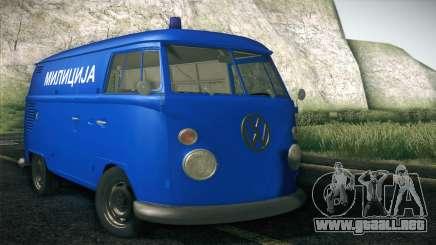 Volkswagen T1 Milicija para GTA San Andreas